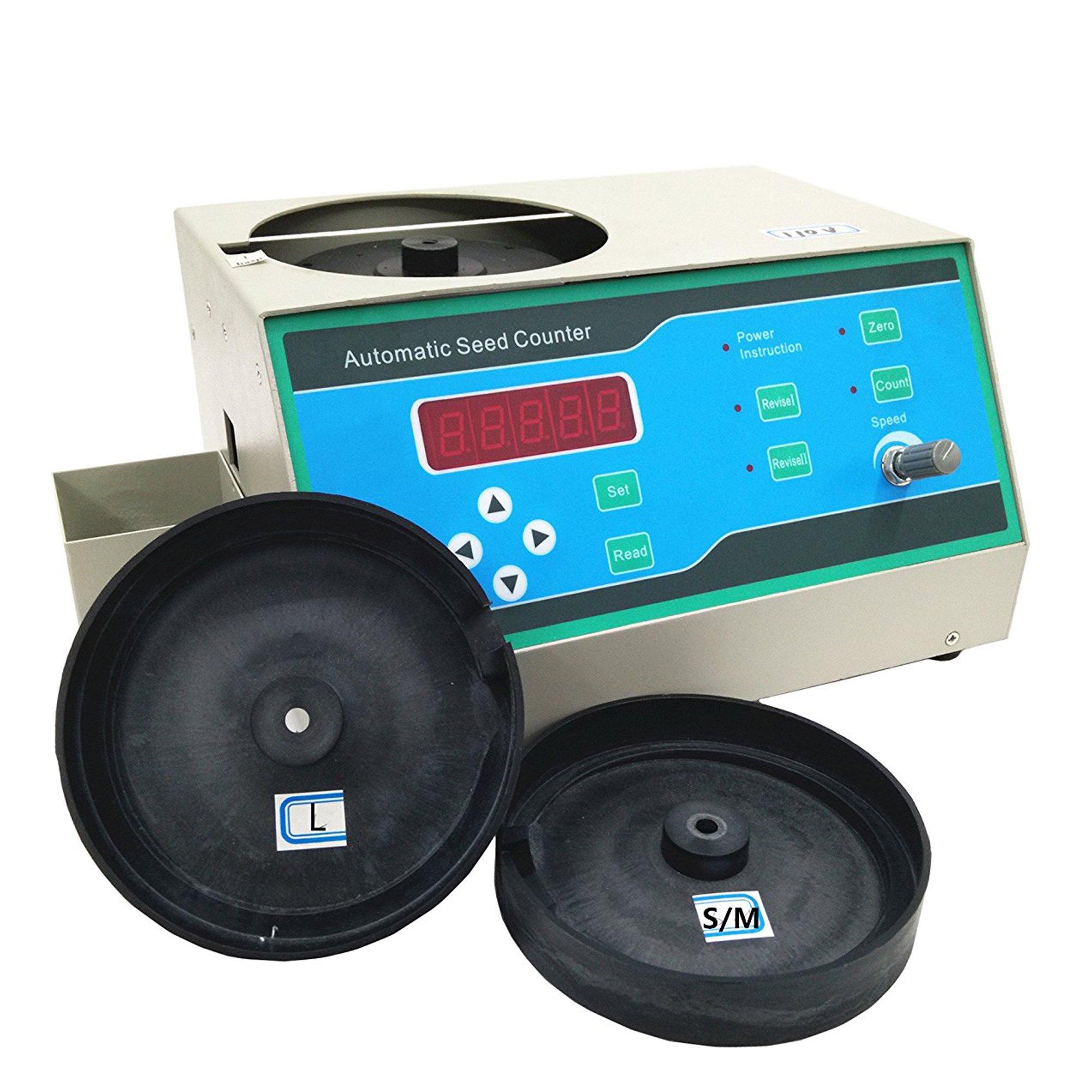 BAOSHISHAN Sly-C Automatic Seeds Counter Machine for S/M/L Shapes Seeds Like Wheat Rice Barley Corn110V/220V (110V)