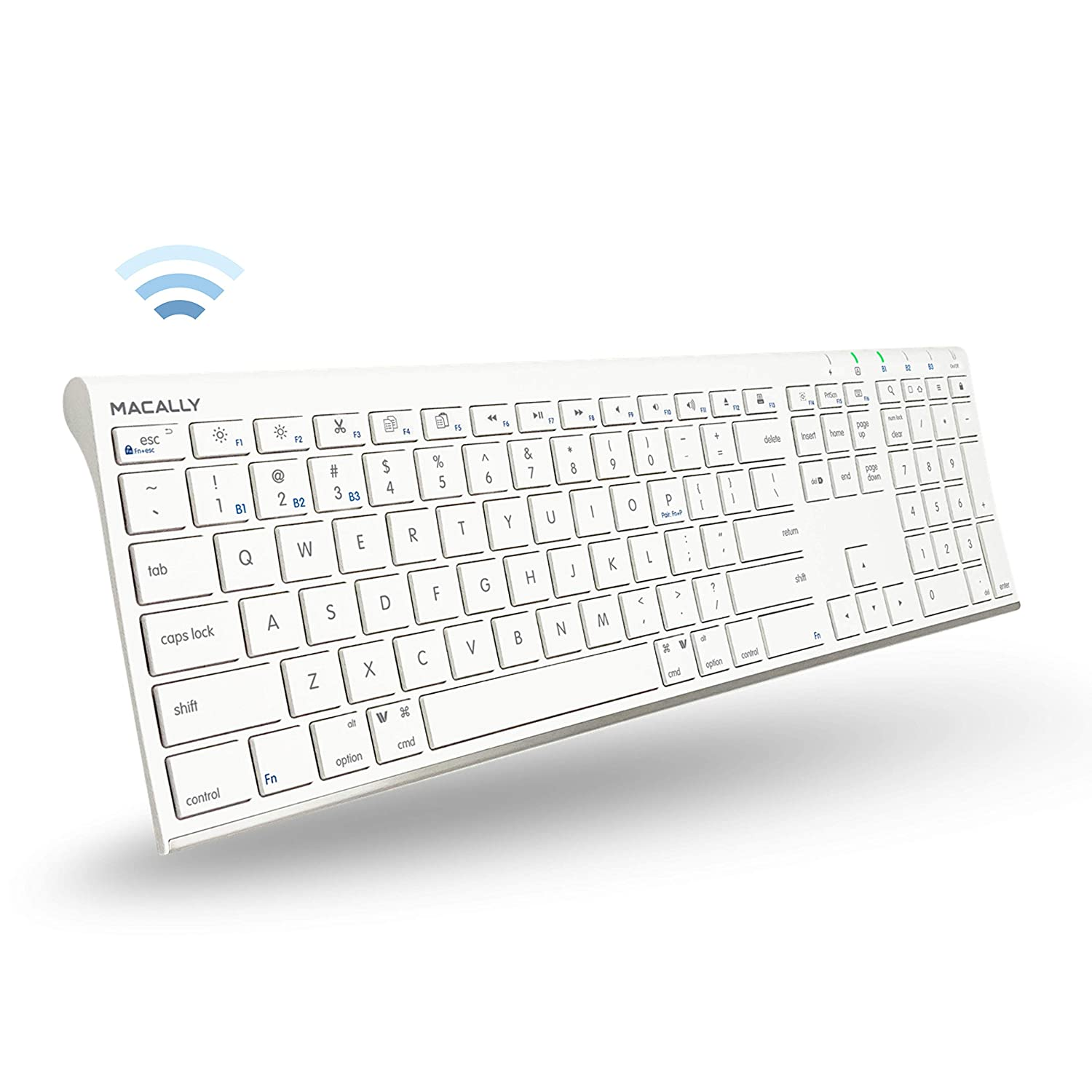 Macally Wireless Bluetooth Keyboard for Mac or PC