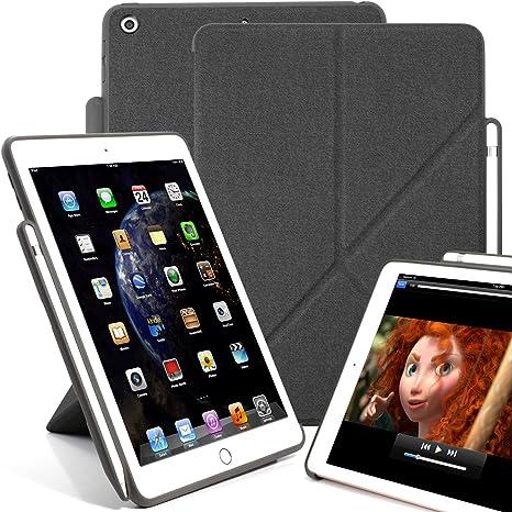 KHOMO - Funda para iPad de 9,7 Pulgadas (2017 y 2018) con Soporte ...