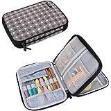 Damero Crochet Hook Case, Travel Storage Bag for Swing Crochet Hooks, Lighted Hooks, Needles(Up to 8'') and Accessories, Larg
