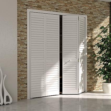 Bi Fold Closet Door, Louver Louver Plantation White (36x80)