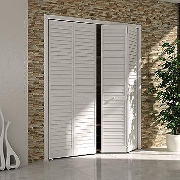 Bi-fold Closet Door Louver Louver Plantation White (36x80) & Bi-fold Closet Door Louver Louver Plantation White (36x80 ...