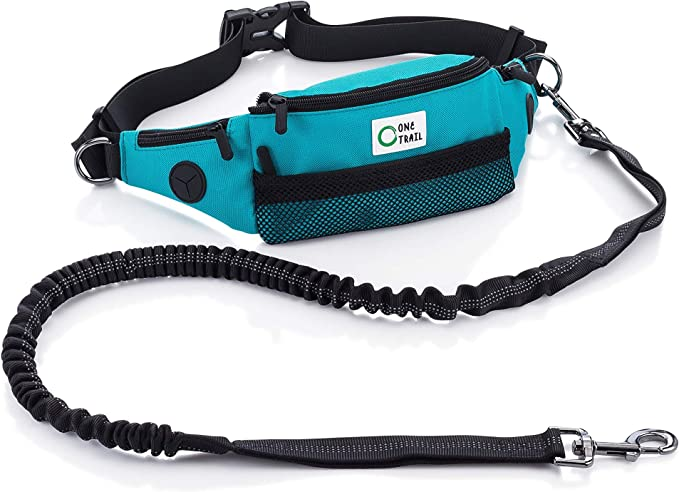 TeqHome Hands Free Dog Leash Retractable Harness with Reflective Stitches for Medium and Small Dogs