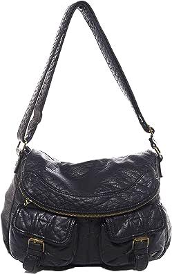 Vegan Leather Shoulder Handbag Purse Crossbody Eco Friendly by Ampere Creations