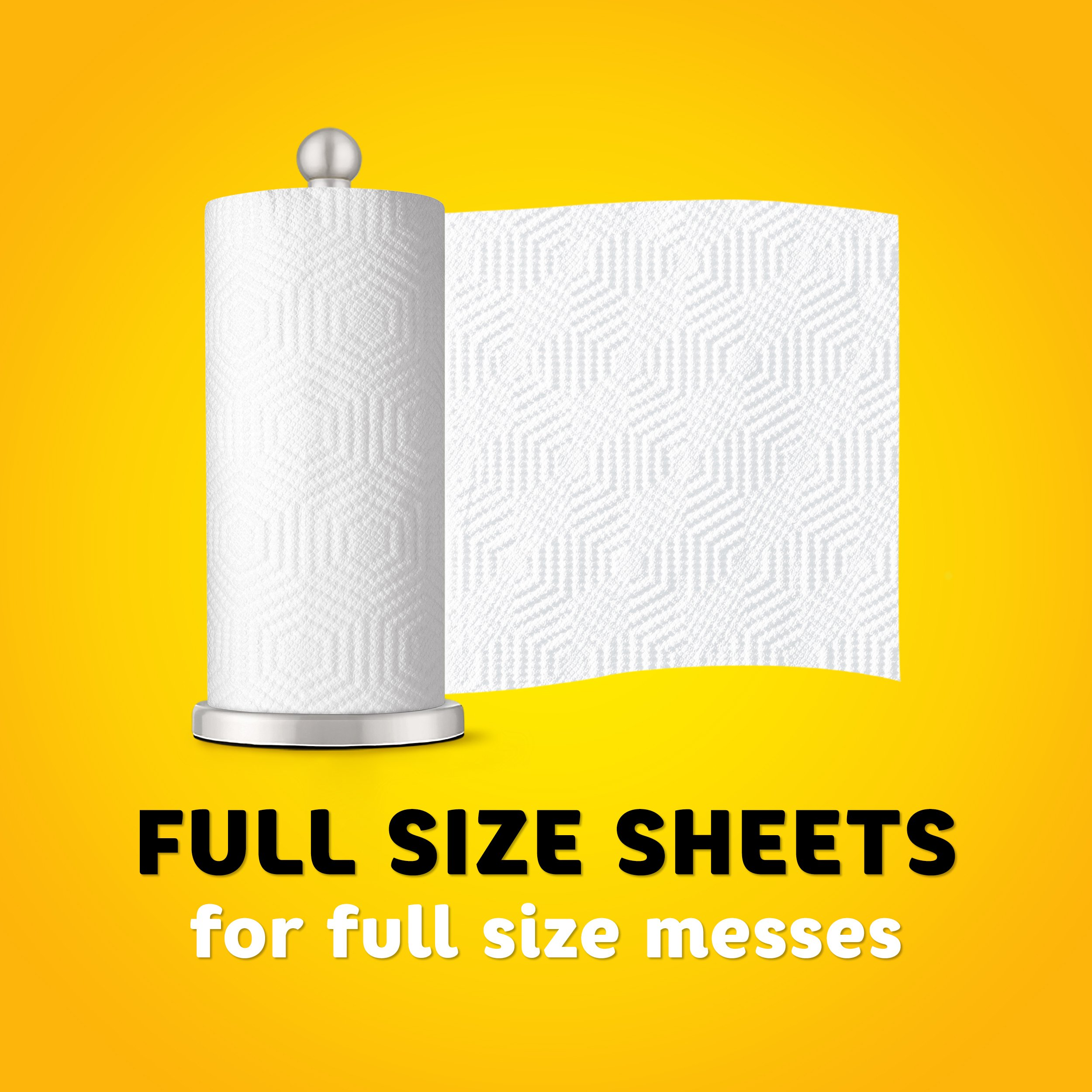 Bounty Essentials Full Sheet Paper Towels, 24 Large Rolls by Bounty (Image #4)