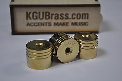kgubrass Trompeta Parte inferior Tapas V6 pesados para Bach Stradivarius oro 24 K