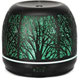 Earnest Living Essential Oil Diffusers for Essential Oils Large Room Aroma Therapy 500 ml - Metal Forest Ultrasonic…