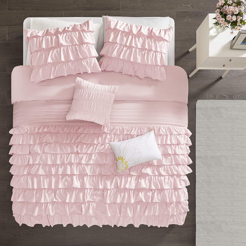 Intelligent Design ID10-021 Waterfall Comforter Set Blue Twin//Twin XL