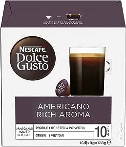 NESCAFÉ Dolce Gusto Americano Rich Aroma Coffee Pods, 16 Capsules (16 Serves) 128g, 160 grams