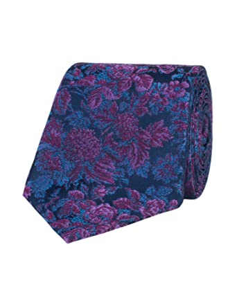 379abbdc8d5a Stvdio By Jeff Banks Purple Graduated Floral Tie: Amazon.co.uk: Clothing