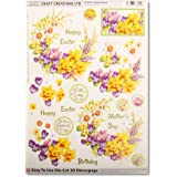 birthdays anniversaries 4 sheet pack of A4 sheets Dufex foil toppers Greetings