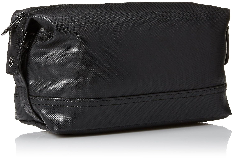 Kit negro del viaje de la textura del piqué bolsa de mano de ...