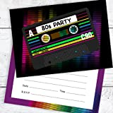 personalised 80s birthday party invitations x10 amazon co uk toys