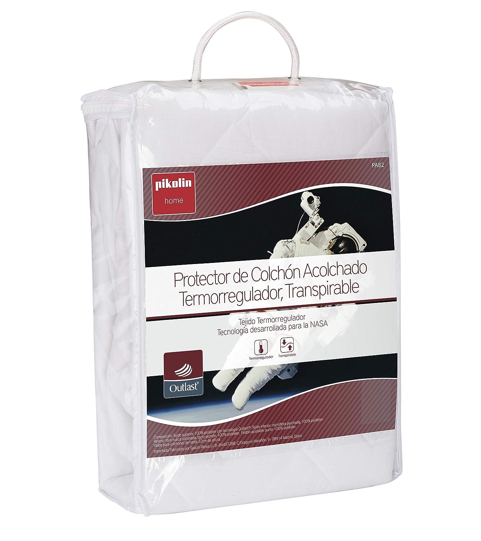 Pikolin Home - Protector de colchón acolchado (cubre colchón), termorregulador, transpirable, 90x190/200cm-Cama 90 (Todas las medidas): Amazon.es: Hogar