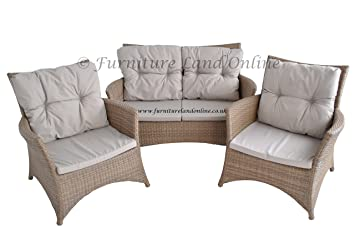Groovy Ideal Rattan Effect Garden Furniture Set Sofa And Two Evergreenethics Interior Chair Design Evergreenethicsorg