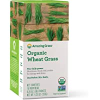 Amazing Grass Organic Wheat Grass Powder, Individual Servings, 15 count .28oz, Greens, Detox, Alkalize, whole leaf…