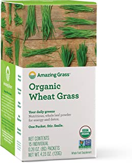 product image for Amazing Grass Wheat Grass Powder: 100% Whole-Leaf Wheat Grass Powder for Energy, Detox & Immunity Support, 15 Servings