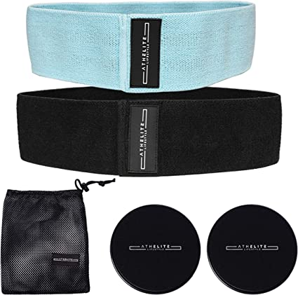 Hip Circle Glute Resistance Band Premium Elastic Fabric LATEX FREE Pilates