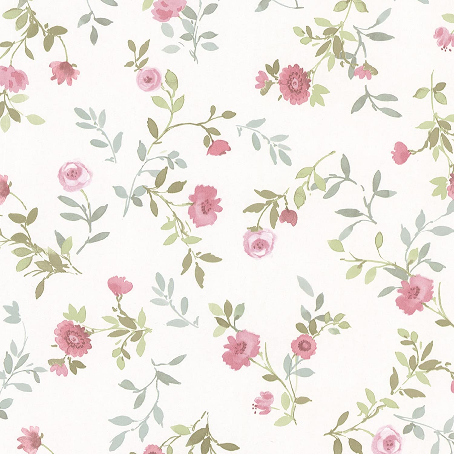 Brewster 487 68882 Sophie Floral Toss Wallpaper Pink Amazon Com