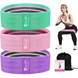 Favofit Resistance Bands Set for Legs and Butt, 3 Pack Non-Slip Workout Fitness Resistance Bands for Men and Women…