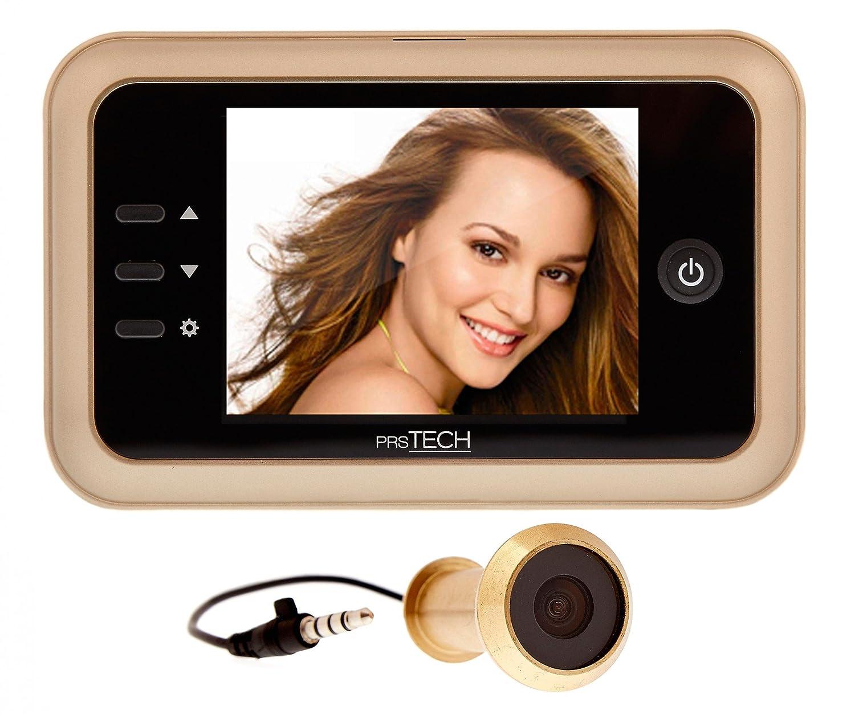 prsTECH® DoorCAM DC1 Digitaler Türspion, 3,5 Zoll LCD Display für Türstärken von 38-110mm