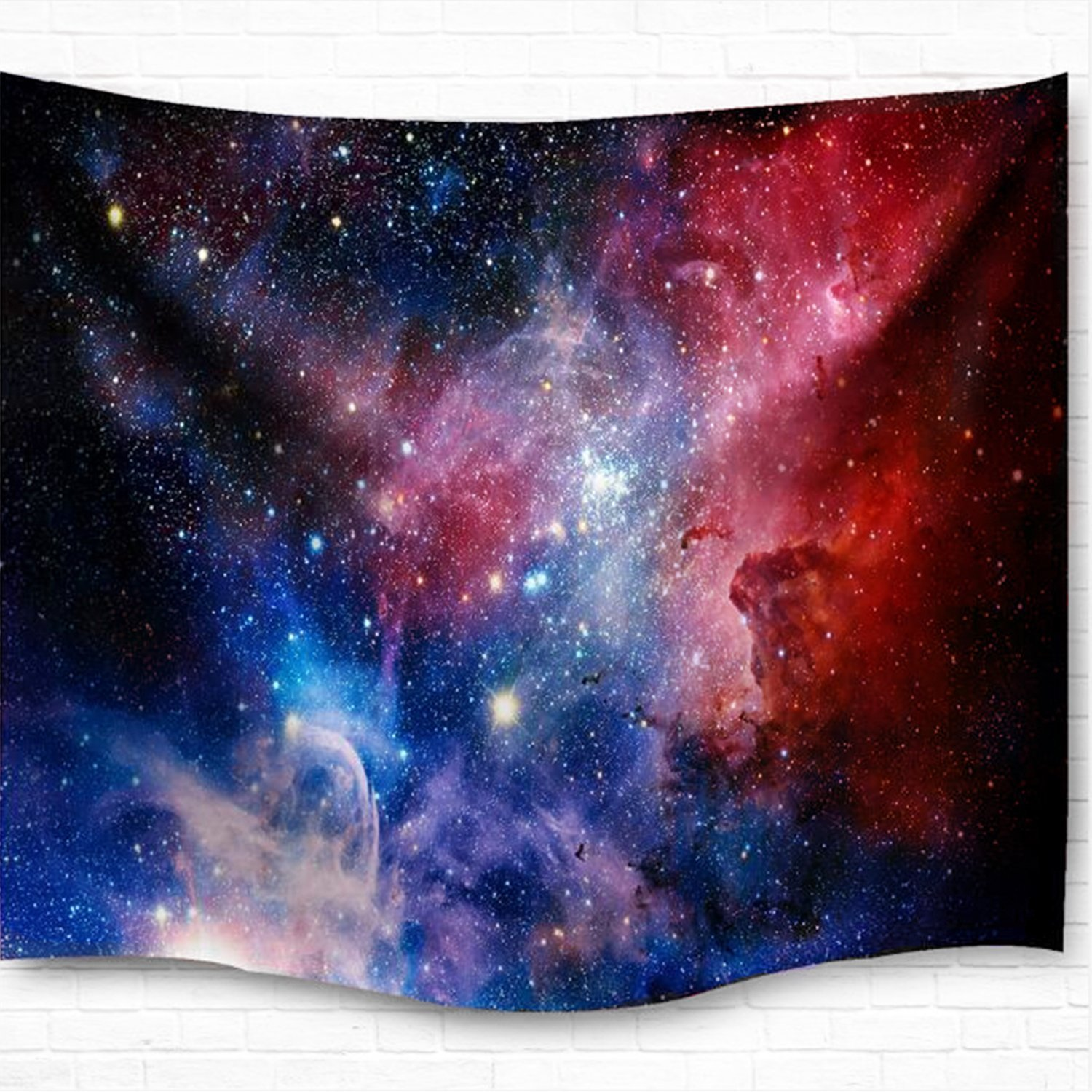Forest Starry Tapestry Wall Hanging 3D Printing Forest Tapestry Galaxy Tapestry Forest Milky Way Tapestry Tree Tapestry Night Sky Tapestry Wall Tapestry for Dorm Living Room Bedroom (M, 4#forest star) Smurfs Yingda