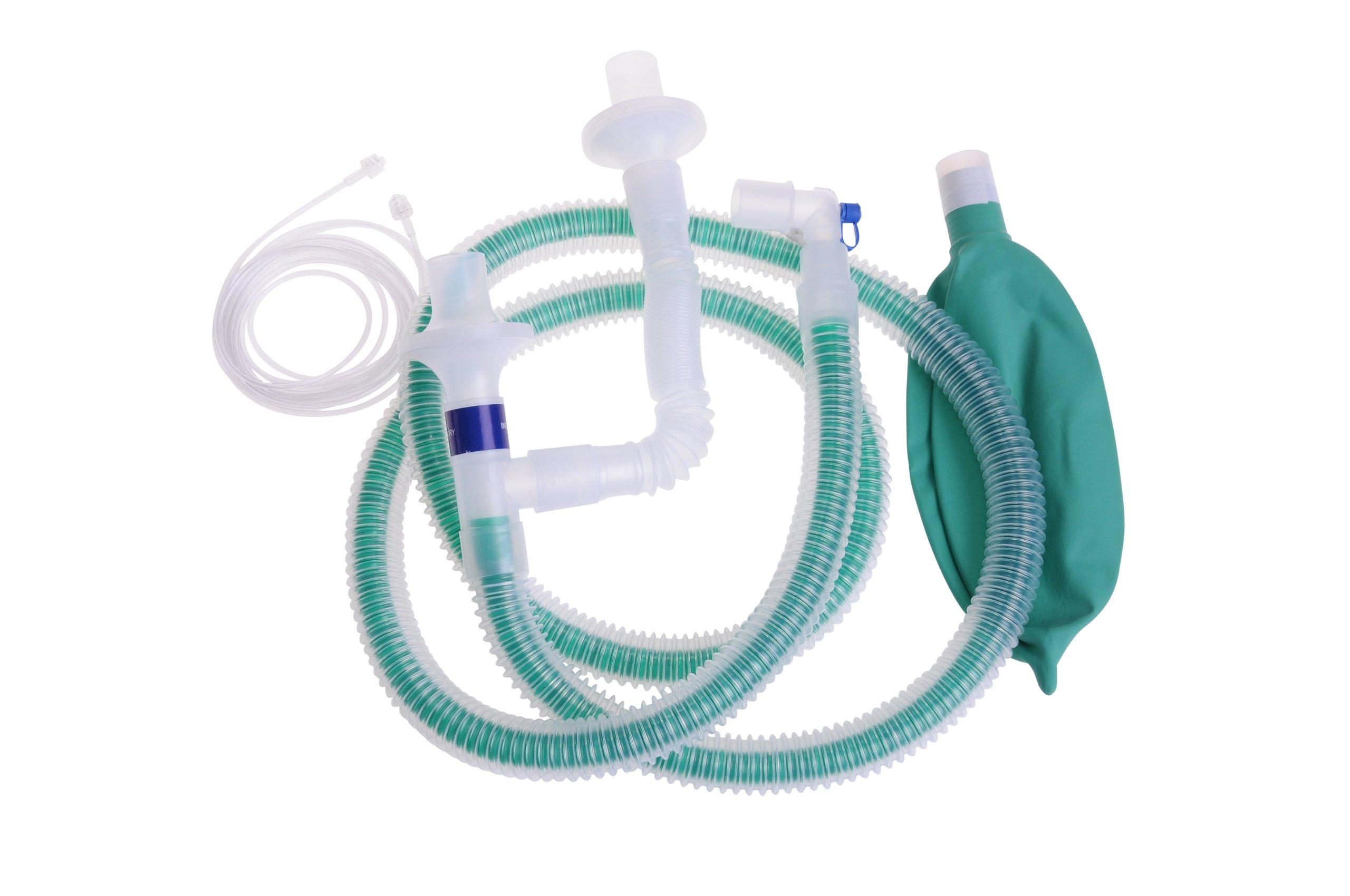 Medline DYNJAPF6030 Pediatric 72'' Unilimb Anesthesia Circuit w/Gas Sampling Line (Case of 20) by Medline