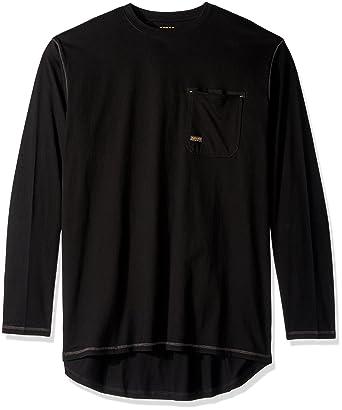 3775f6979a6d Amazon.com: Ariat Men's Big REBAR Long Sleeve Crew, Turquoise, Tall ...