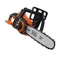 Black+Decker Akku-Kettensäge (18V Li-Ion-Akku, 25 cm Schwertlänge, 180 mm max. Durchmesser, ideal für Holz- und Gartenarbeiten, ohne Akku und Ladegerät) GKC1825LB