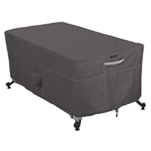 Classic Accessories Ravenna Rectangular Fire Pit/Table Cover, 56-Inch