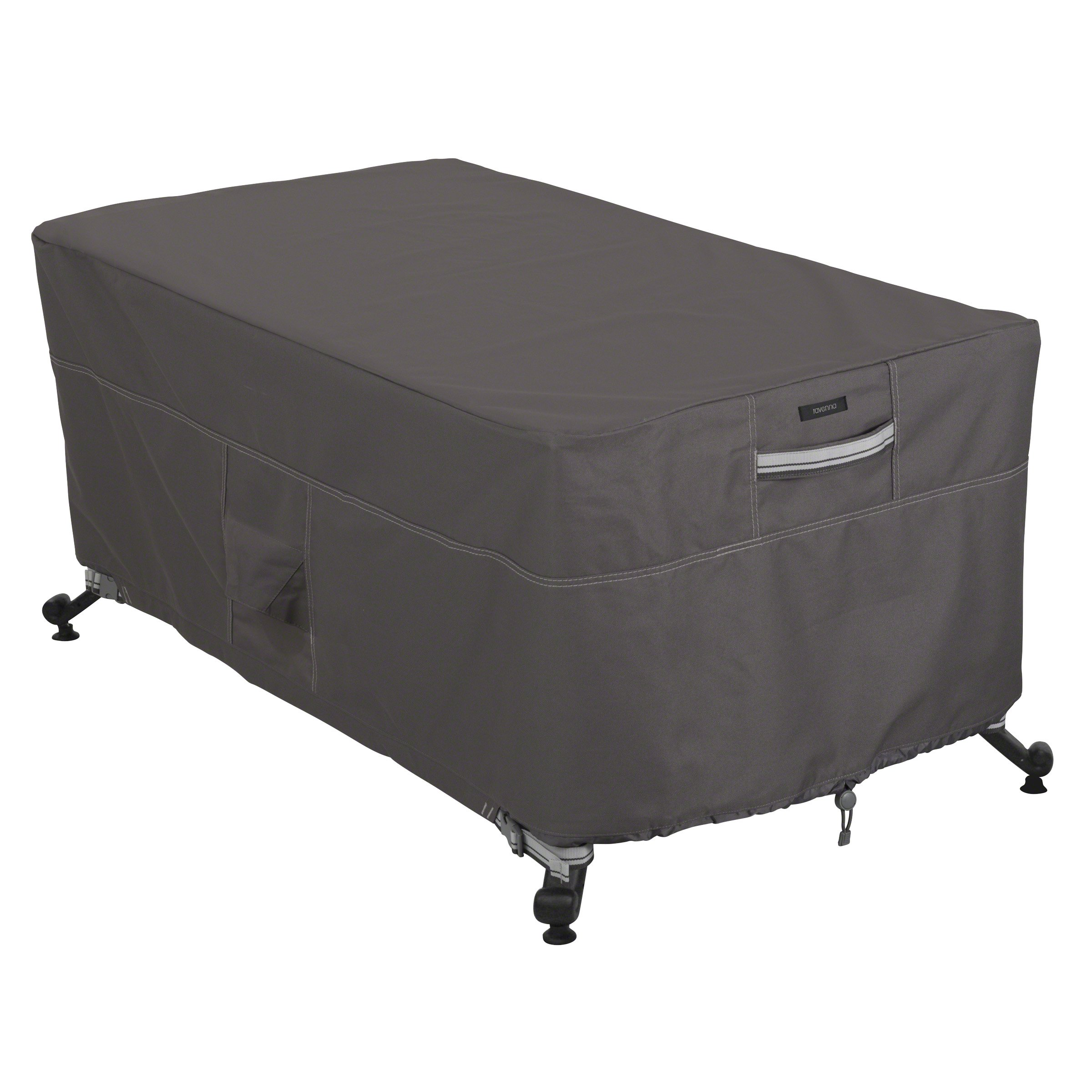 Classic Accessories Ravenna 56'' Rectangular Fire Pit Table Cover - Premium Outdoor Cover with Durable and Water Resistant Fabric (55-598-015101-EC)