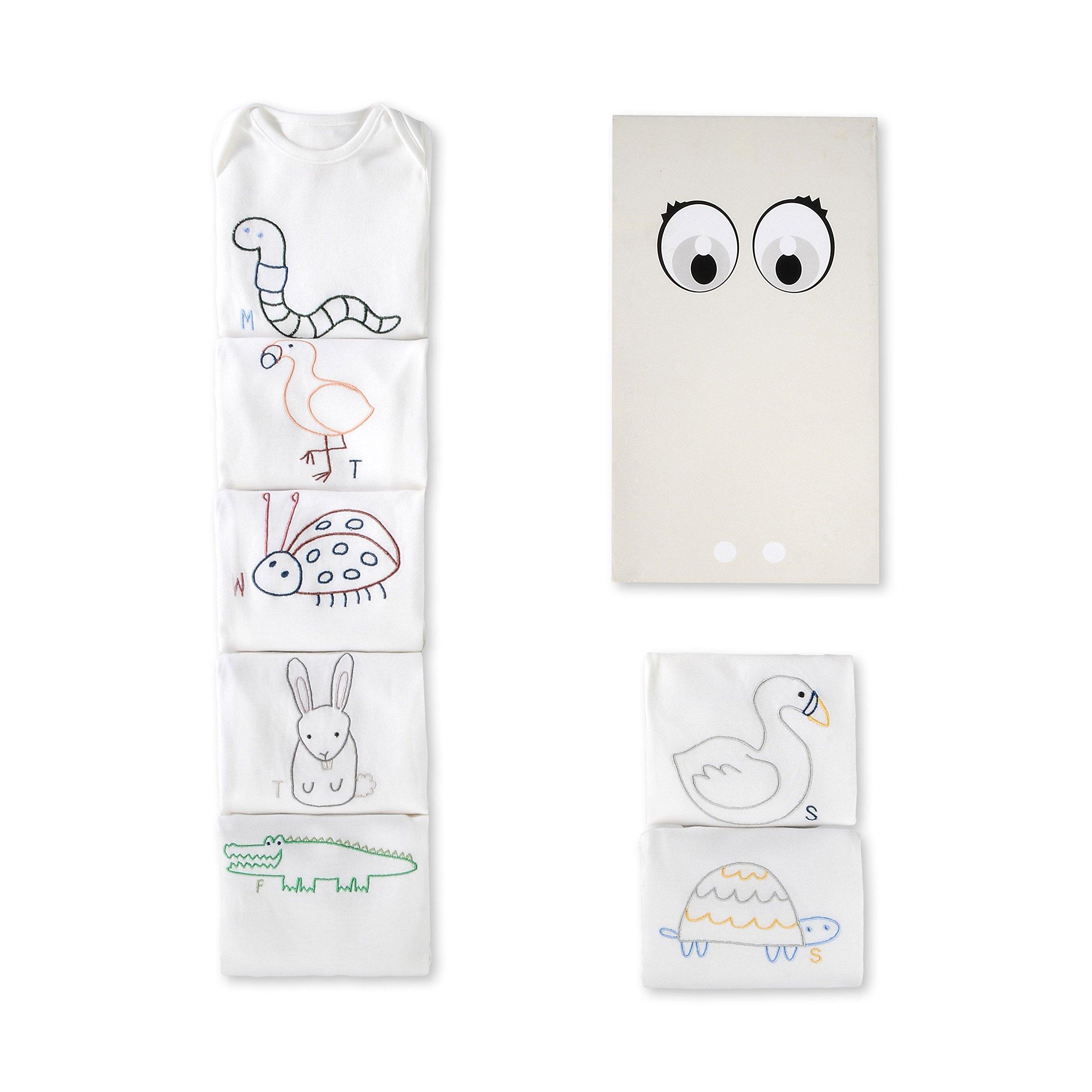 Stella McCartney Kids Baby Bodysuit Set of 07 Organic Cotton Jersey Gift 382793 (9 Months)