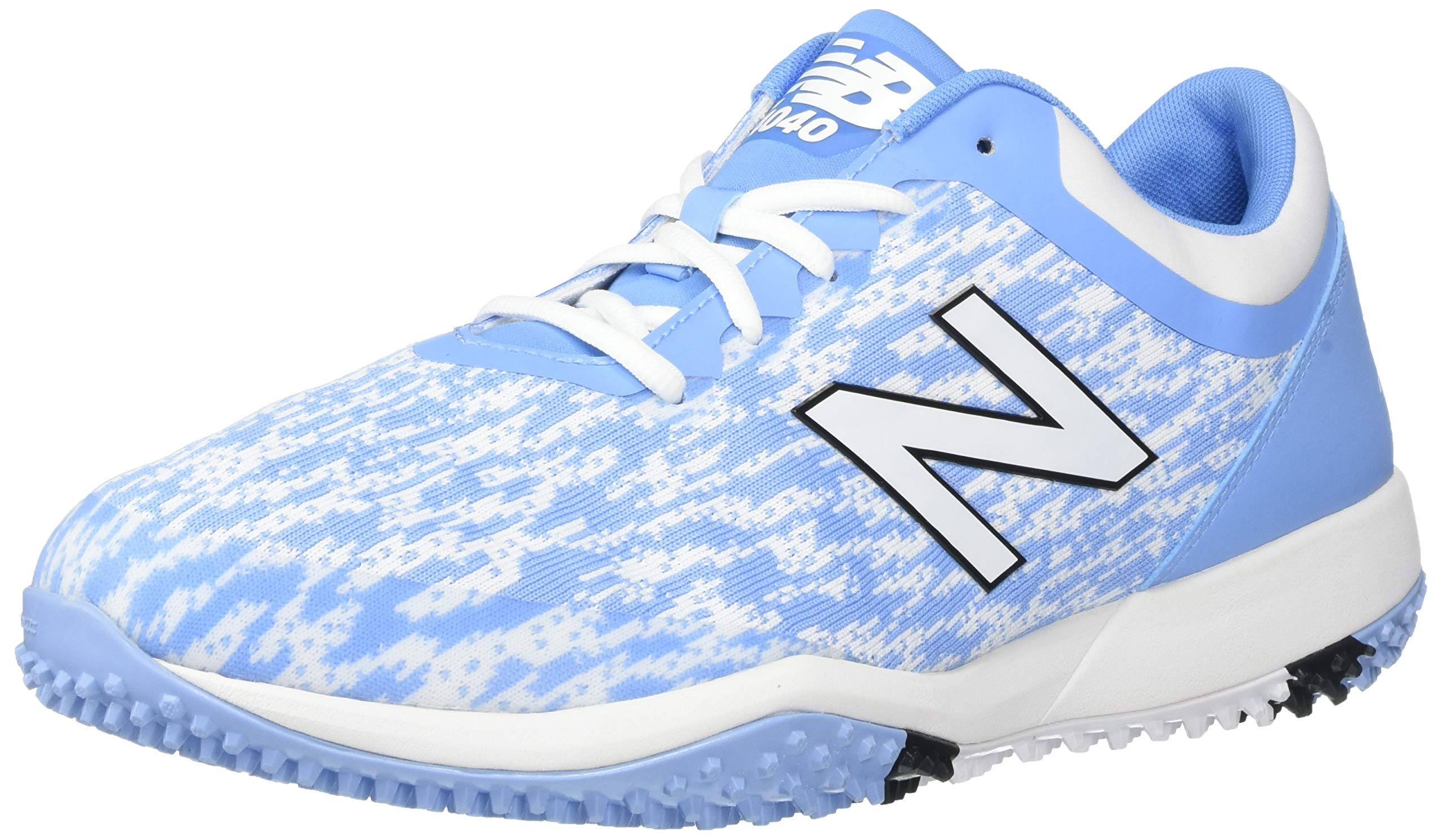 New Balance Men's 4040v5 Turf Track and Field Shoe, Baby Blue/White, 5 D US