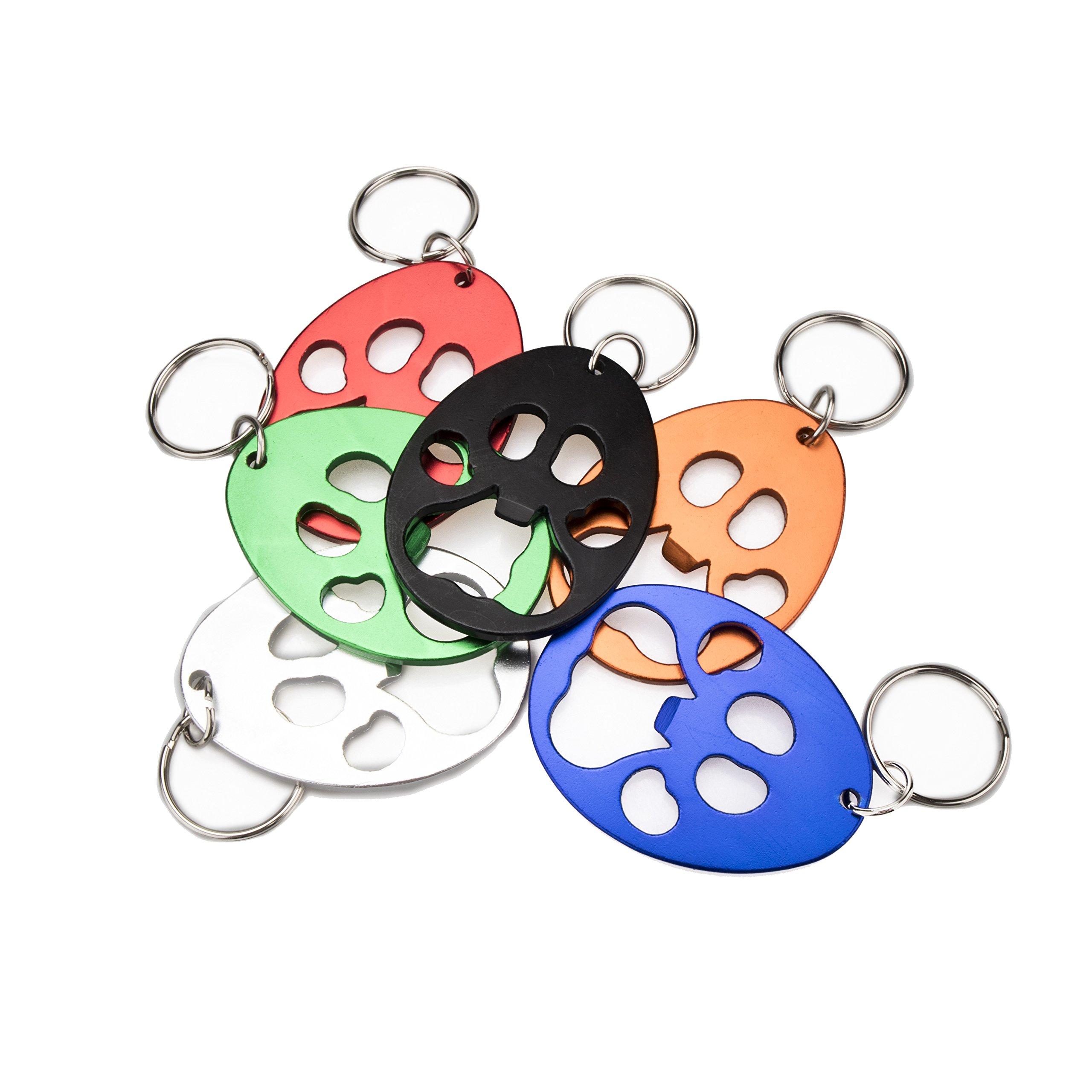 Swatom Bear's-Paw Keychain Bottle Opener Beer Opener Tool, Key Tag Chain Ring, 100 Piece