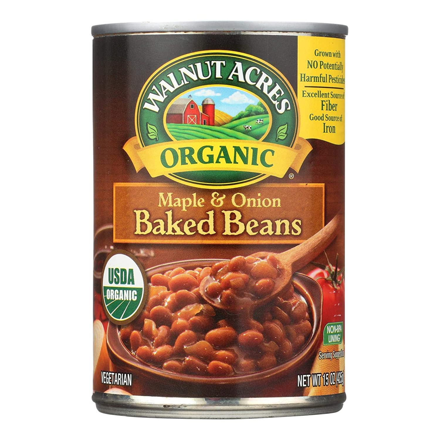 Walnut Acres Organic Baked Beans, Maple Onion, 15 Ounce Cans (Pack of 12) ( Value Bulk Multi-pack)