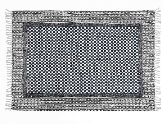 Black Velvet Studio - Alfombra Fez 100% algodón, Color Gris y Azul ...