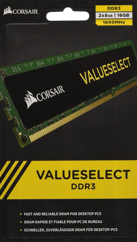 Corsair CMV16GX3M2A1600C11 16 GB (2x8 GB) DDR3 1600MHz (PC3 12800) Desktop Memory 1.5V
