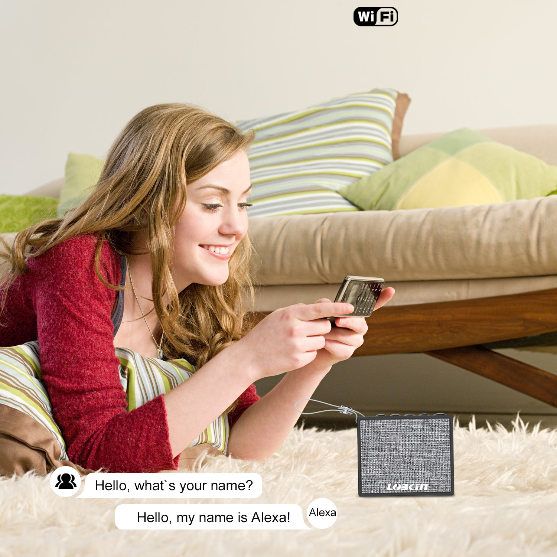alexa f higes bluetooth wireless wifi spotify lautsprecher. Black Bedroom Furniture Sets. Home Design Ideas
