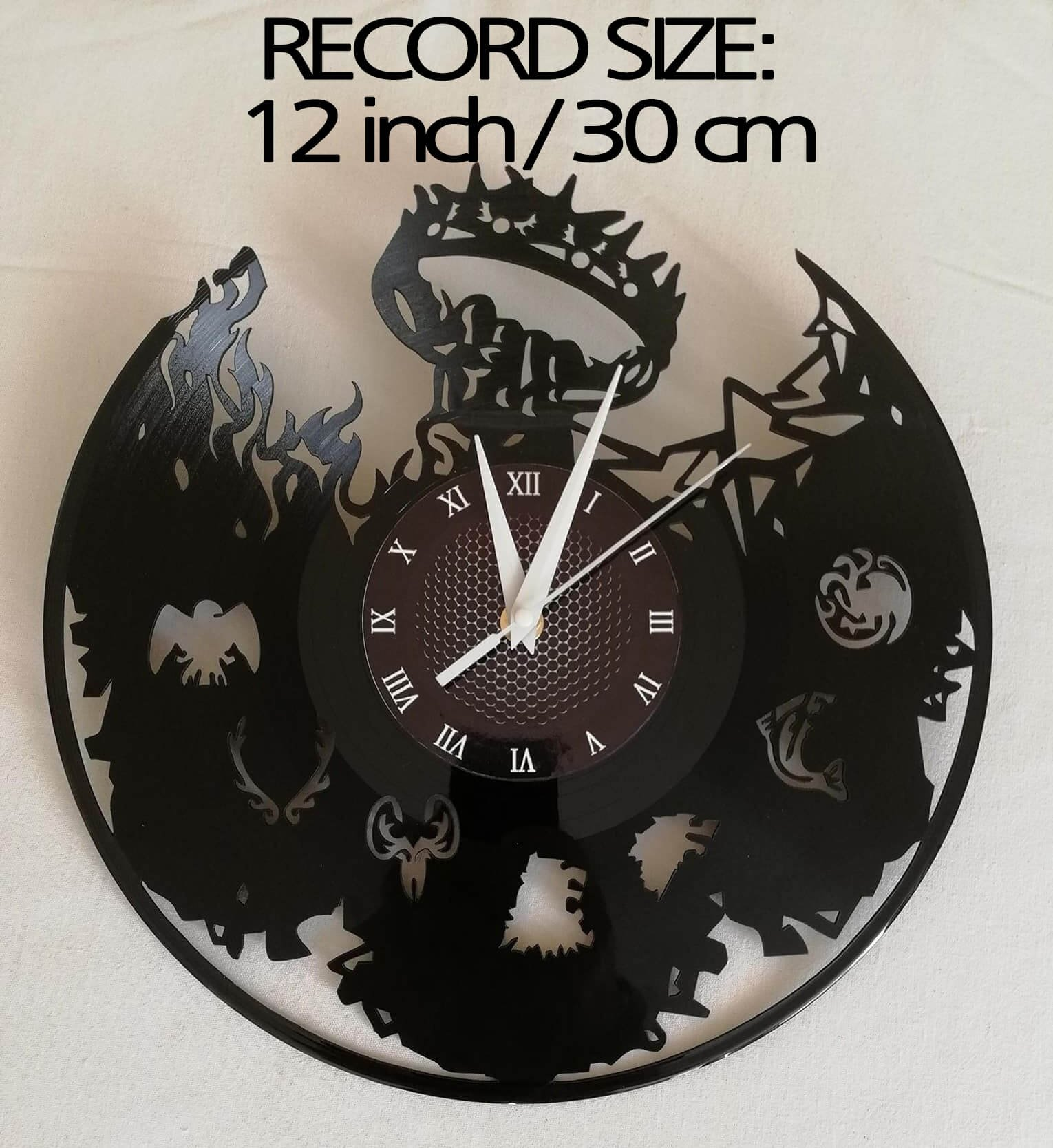 SEASON 7 GAME OF THRONES Handmade Vinyl Record Wall Clock - Get unique home room wall decor - MARVEL COMICS Gift ideas for parents, teens – GOT Epic Movie Unique Modern Art WINTER IS COMING SEASON 7 6
