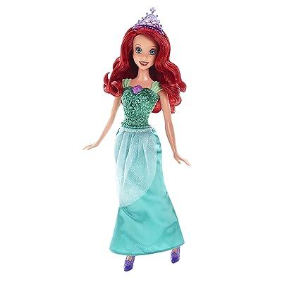 Mattel Disney Sparkle Princess Ariel Doll: Toys & Games
