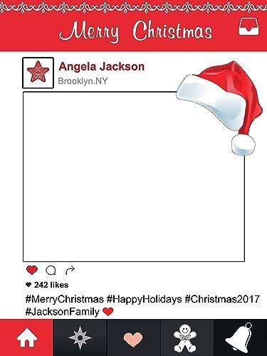 Amazon.com: Large Custom Merry Christmas photo booth frame prop ...