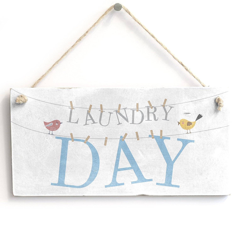 Amazon.com: Día de lavandería – hecho a mano Vintage lindo ...