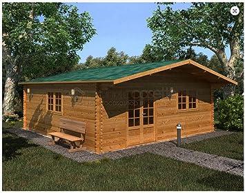 Mondocasette Casa Casa de Madera de jardín - Modelo Venta Grosor Paredes 45 mm 600 x 600 cm, Chalet Bungalow: Amazon.es: Jardín