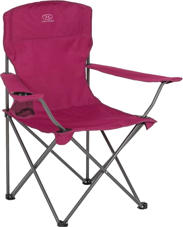 Highlander - Silla plegable para acampada, ligera y duradera ...