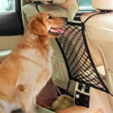 AUTOWN Car Dog Barrier Car Seat Net Organizer,Universal Stretchy Auto Backseat Barrier Net Storage,Disturb Stopper from Children and Pets