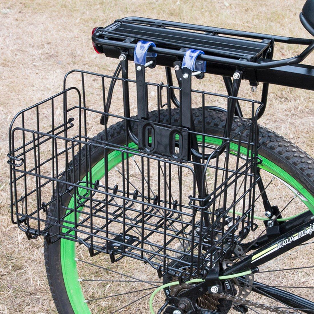 YUKIKO Panier de vélo Pliable pour Porte-Bagages Avant ou vélo  Amazon.fr   Sports et Loisirs 1d8f4582c3e