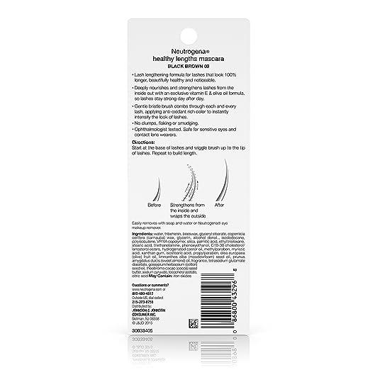 Amazon.com: Neutrogena Healthy Lengths Mascara, Black/Brown 03, 0.21 Oz: Prime Pantry