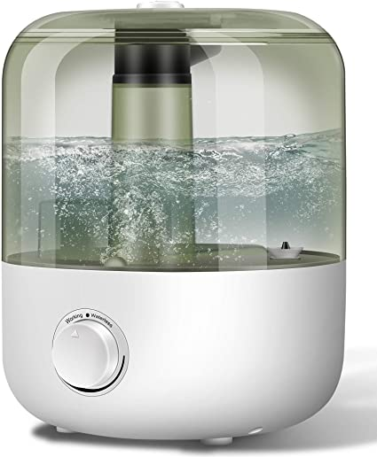 Amazon Com Yjy Humidifiers With Essential Oils Diffuser Top Fill Large Cool Mist Humidifier For Bedroom 3l 30hours Ultrasonic Easy Clean Never Leak No Scale Whisper Quiet Auto Shut Off For Home Baby White Health Personal Care
