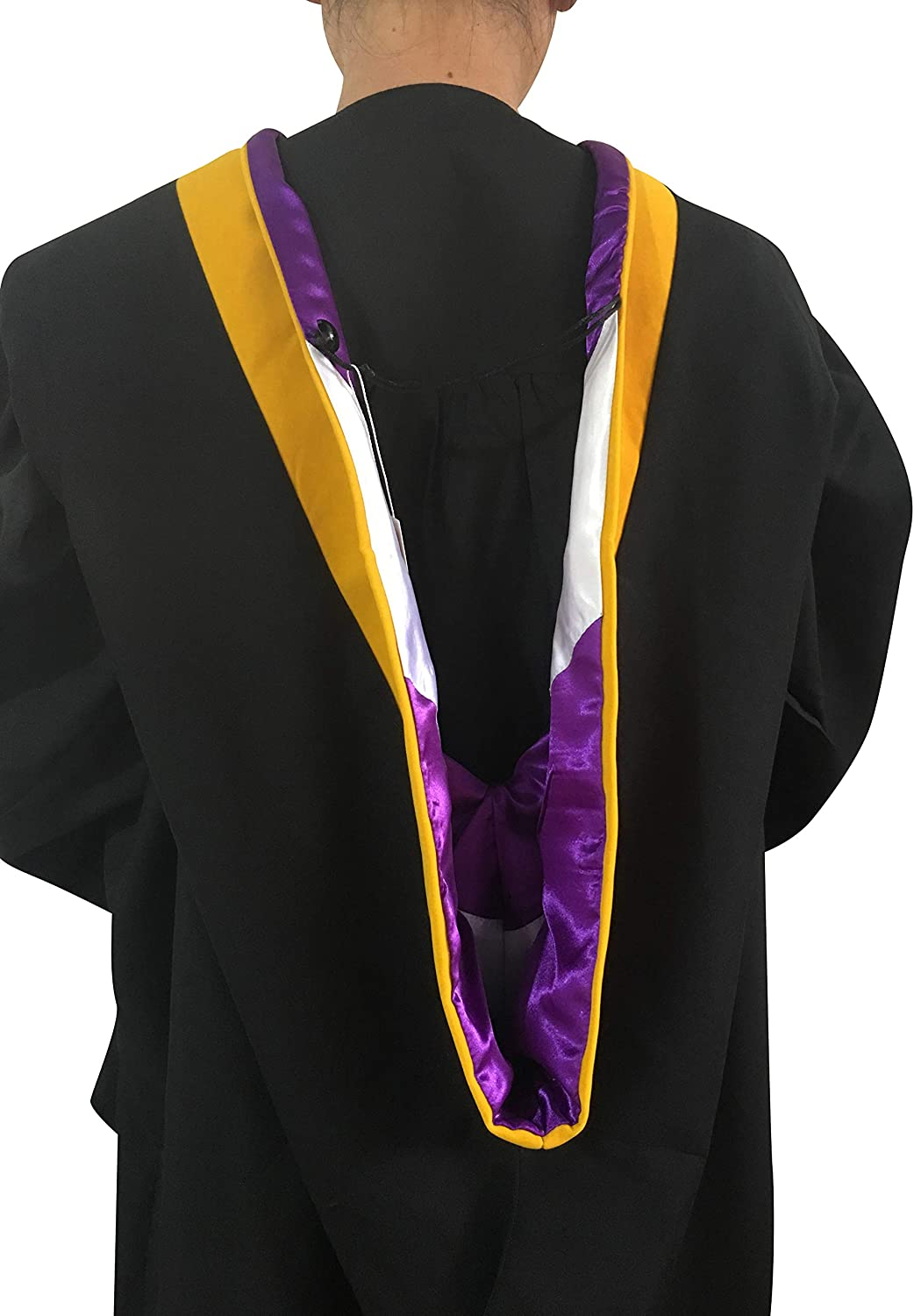 M.S. Math etc. Various Colors in Physics Cappe Diem Master Hood GOLDEN YELLOW: Master of Science