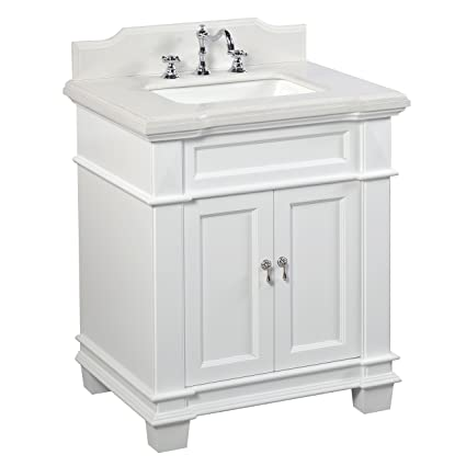 elizabeth 30 inch bathroom vanity quartz white includes white rh amazon com lowes 30 inch bathroom vanity with sink 30 inch bathroom vanity with sink under $200